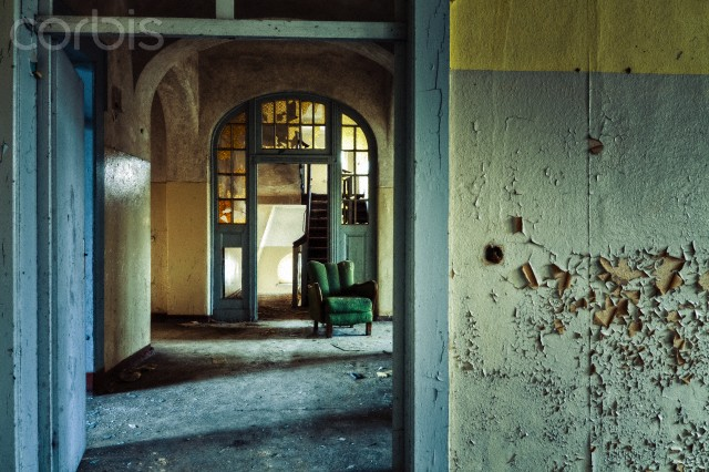 Germany --- Decayed interior of Sanatorium Teupitz, Brandenburg, Germany --- Image by © David Pinzer Photography/Image Source/Corbis